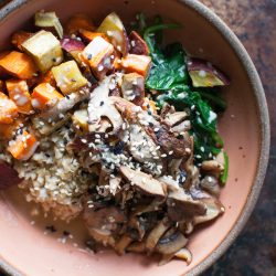 Savory Steel Cut Oats Bowl