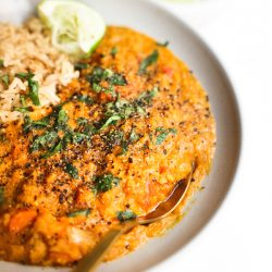 Sweet Potato Red Lentil Curry {Instant Pot option}