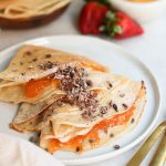 Vegan Crepes with Tahini Maple Cream