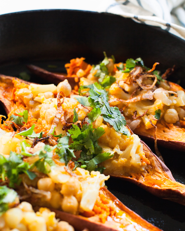 Easy stuffed sweet potatoes