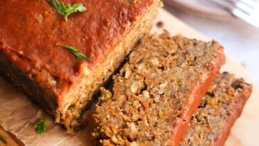 Best ever vegan lentil meatloaf