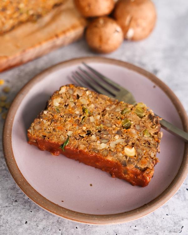 Best ever vegan lentil meatloaf