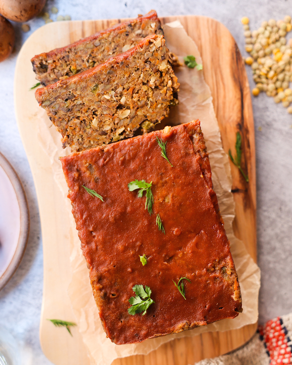 vegan lentil meatloaf