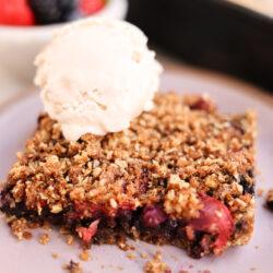 Brilliant Berry Vegan Crumble