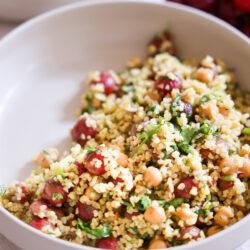 Amazing Bulgur Salad with Roasted Grapes
