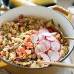 Summer Peach White Bean Salad